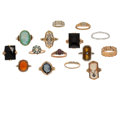 Estate Jewelry:Rings, Diamond, Multi-Stone, Platinum, Gold Rings . ... (Total: 15 Items)