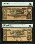 Confederate Notes:1864 Issues, T68 $10 1864 Five Examples. . ... (Total: 5 notes)