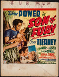 "Movie Posters:Adventure, Son of Fury (20th Century Fox, 1942). Trimmed Window Card (14"" X18""). Adventure.. ..."
