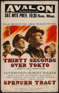 "Thirty Seconds Over Tokyo (MGM, 1944). Window Card (14"" X 22""). War"