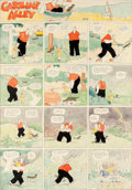 Original Comic Art:Comic Strip Art, Frank King Gasoline Alley Sunday Comic Strip Hand-Colored Original Art (Chicago Tribune, 1924)....