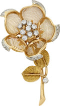 Estate Jewelry:Brooches - Pins, Diamond, Gold Brooch, Piaget. ...