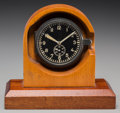 Decorative Arts, Continental:Other , A WWII Junghans J30D FL25591 Luftwaffe Cockpit Clock with LeatherBomber Flying Gear and Memorabilia, circa 1940 and later. ...(Total: 7 Items)