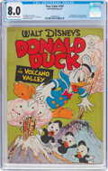 Golden Age (1938-1955):Cartoon Character, Four Color #147 Donald Duck (Dell, 1947) CGC VF 8.0 Off-white towhite pages....