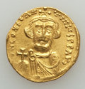 Ancients:Byzantine, Ancients: Constans II (AD 641-668). AV solidus (20mm, 4.33 gm). VF,clipped....