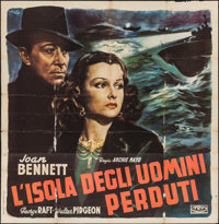 "The House Across the Bay (Trans World Films, 1940s). First Post War Release Italian Poster (55.5"" X 54.5""). Cr..."