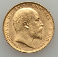 Australia, Australia: Edward VII gold Sovereign 1908-P AU, ...