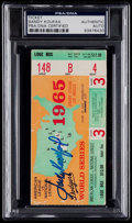 Autographs:Others, 1965 Sandy Koufax Signed World Series Ticket Stub PSA/DNA Authentic....