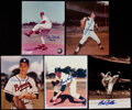 Autographs:Baseballs, Baseball Greats Signed Photograph Collection (5)....