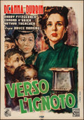 "Movie Posters:Comedy, The Amazing Mrs. Holliday (Scalera Film, Late 1940s). First Post-War Italian Foglio (27.5"" X 39""). Comedy.. ..."
