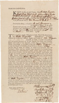 Autographs:Statesmen, Joseph Hewes Document Signed....