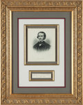 Autographs:Authors, Edgar Allan Poe Partial Autograph Note Signed....
