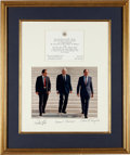 Autographs:Statesmen, Supreme Court Justices Photograph Signed by Antonin Scalia, WarrenE. Burger, and William Rehnquist....
