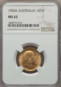 Australia, Australia: Edward VII gold Sovereign 1906-S MS62 NGC,...