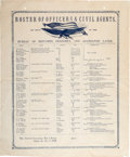 "Miscellaneous:Broadside, Freedman's Broadside: ""Roster of Officers & Civil Agents, OnDuty in the Bureau of Refugees, Freedmen, and Abandoned Lan...(Total: 3 )"