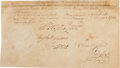 Autographs:U.S. Presidents, George Washington and Thomas Jefferson Partial Document Signed...
