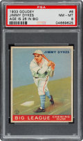 Baseball Cards:Singles (1930-1939), 1933 Goudey Jimmy Dykes (Age 26 in Bio) #6 PSA NM-MT 8 - The OnlyPSA Graded Example! ...