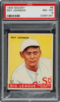 Baseball Cards:Singles (1930-1939), 1933 Goudey Roy Johnson #8 PSA NM-MT 8 - None Higher....
