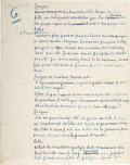 Autographs:Authors, George Sand Autograph Manuscript (Unsigned)....