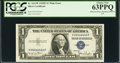 """Error Notes:Obstruction Errors, Fr. 1613W $1 1935D Wide Silver Certificate with """"Radar"""" SerialNumber 04444440. PCGS Choice New 63PPQ.. ..."""