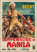 "Movie Posters:War, Salute to the Marines (DCN, Late 1940s). First Post-War ReleaseItalian 4 - Fogli (55"" X 77""). War.. ..."
