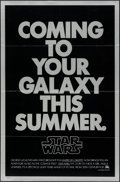 "Movie Posters:Science Fiction, Star Wars (20th Century Fox, 1977). One Sheet (27"" X 41"") Non-MylarAdvance. Science Fiction.. ..."