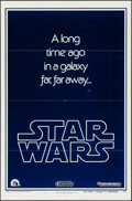 "Movie Posters:Science Fiction, Star Wars (20th Century Fox, 1977). Flat Folded One Sheet (27"" X41"") Teaser Style B. Science Fiction.. ..."