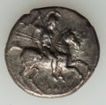 Ancients:Greek, Ancients: CALABRIA. Tarentum. Ca. 302-281 BC. AR nomos (21mm, 6.33gm). Choice Fine....