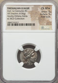 Ancients:Greek, Ancients: THESSALY. Thessalian League. Mid-late 2nd Century BC. ARdrachm (4.06 gm). NGC Choice XF ★ 5/5 -...