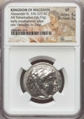 Ancients:Greek, Ancients: MACEDONIAN KINGDOM. Alexander III the Great (336-323 BC).AR tetradrachm (16.93 gm). NGC VF 4/5 - 3/5....