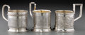 Silver Holloware, Continental, Three Russian Silver Cups, late 19th-early 20th centuries. Marks:(various). 3-3/4 inches high (9.5 cm) (tallest). 10.94 tro...(Total: 3 Items)