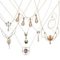 Estate Jewelry:Necklaces, Diamond, Multi-Stone, Cameo, Freshwater & Blister Pearl, Gold Necklaces . ... (Total: 8 Items)