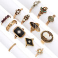 Estate Jewelry:Rings, Diamond, Multi-Stone, Cultured Pearl, Gold Rings . ... (Total: 13Items)