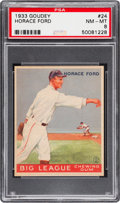 Baseball Cards:Singles (1930-1939), 1933 Goudey Horace Ford #24 PSA NM-MT 8 - Only One Higher....