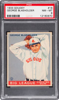 Baseball Cards:Singles (1930-1939), 1933 Goudey George Blaeholder #16 PSA NM-MT 8 - Only One Higher....