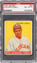 Baseball Cards:Singles (1930-1939), 1933 Goudey Chalmer Cissell #26 PSA NM-MT 8 - None Higher....