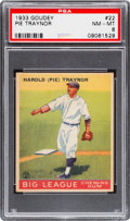 Baseball Cards:Singles (1930-1939), 1933 Goudey Pie Traynor #22 PSA NM-MT 8 - Only One Higher....