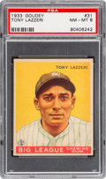 Baseball Cards:Singles (1930-1939), 1933 Goudey Tony Lazzeri #31 PSA NM-MT 8 - None Higher....