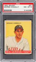 Baseball Cards:Singles (1930-1939), 1933 Goudey George Connally #27 PSA NM-MT 8 - Only One Higher....