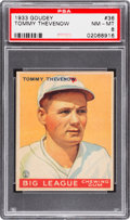 Baseball Cards:Singles (1930-1939), 1933 Goudey Tommy Thevenow #36 PSA NM-MT 8 - None Higher....