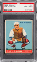 Baseball Cards:Singles (1930-1939), 1933 Goudey Gus Mancuso #41 PSA NM-MT 8 - None Higher....