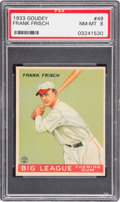 Baseball Cards:Singles (1930-1939), 1933 Goudey Frank Frisch #49 PSA NM-MT 8 - None Higher....