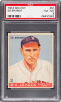 Baseball Cards:Singles (1930-1939), 1933 Goudey Ed Brandt #50 PSA NM-MT 8 - None Higher....