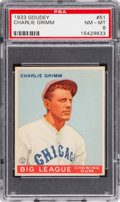 Baseball Cards:Singles (1930-1939), 1933 Goudey Charlie Grimm #51 PSA NM-MT 8 - None Higher....