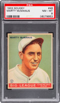 Baseball Cards:Singles (1930-1939), 1933 Goudey Marty McManus #48 PSA NM-MT 8 - None Higher....
