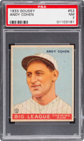 Baseball Cards:Singles (1930-1939), 1933 Goudey Andy Cohen #52 PSA NM 7....