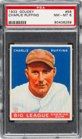 Baseball Cards:Singles (1930-1939), 1933 Goudey Charlie Ruffing #56 PSA NM-MT 8....