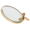 Estate Jewelry:Other, Synthetic Sapphire, Gold Cherub Mirror . ...
