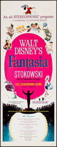 "Movie Posters:Animation, Fantasia (Buena Vista, R-1963). Insert (14"" X 36""). Animation.. ..."