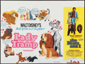"Movie Posters:Animation, Lady and the Tramp/The Bears and I Combo (Buena Vista, R-1974). British Quad (30"" X 40""). Animation.. ..."
